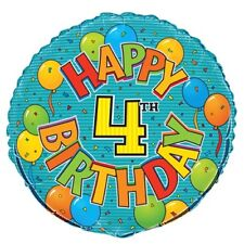"4th BIRTHDAY 45cm (18"") FOIL BALLOON"