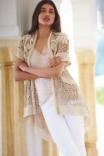 NWT Anthropologie Crocheted Lana Cardigan by Angel of the North Small