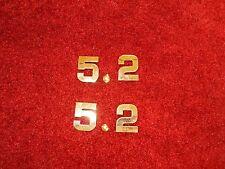 DODGE 5.2 5.2L 318 CID ENGINE ID FENDER HOOD SCOOP QUARTER TRUNK EMBLEMS - GOLD