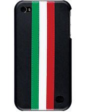 Coque Trexta Italie cuir noir pour iPhone 4