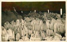 1930s Bend Oregon Sands Gardens Lava Cave RPPC real photo postcard 6846