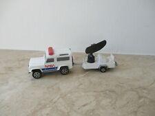 altes MAJORETTE NASA LAND ROVER mit Radar Trailer Nr. 266  Modellauto 1/60
