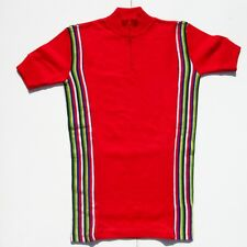 Ancien Maillot de vélo - Cyclisme -  marque FLOWER - SPAIN  - Jersey - rouge -