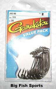GAMAKATSU #111 Bronze 90 Degree Jig Hooks- 25 Hook Value Pack #11109-25 Size 2
