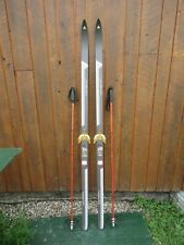 """GREAT Ready to Use Cross Country 70"""" LAMPINEN 180 cm Snow Skis + Poles"""