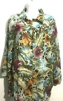 Alfred Dunner Women's Plus Size 18W Blouse Tunic Top Shirt Multicolor Casual EUC