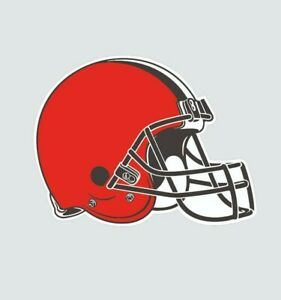 Cleveland Browns Helmet Football Color Sports Decal Sticker-Free Shipping