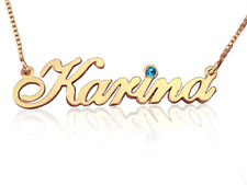 Gold Name Necklace, Personalized Jewelry, Name pendant, order any name! 14k 14ct