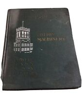 1902 The Lowell Machine Shop Cotton Machinery Book Manual