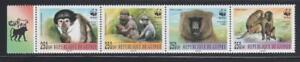 AK14 - ANIMAL KINGDOM STAMPS GUINEE 2000 BABOONS MONKEYS WWF MNH