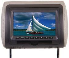 "Power Acoustik HDVD71CC 7"" Headrest Monitor 3-Color Skins LCD/DVD USB/SD"