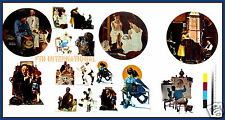 P21 ~ Norman Rockwell Ceramic Decals 11 Designs - 2 sizes, Saturday Evening Post