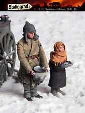 STALINGRAD MINIATURES, 1:35, RUSSIAN CHILDREN (2 FIGURES), S-3135