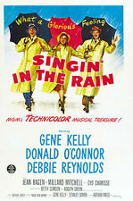Vintage Singing In The Rain Movie Poster A3 reprint