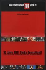 50 Jahre Bild Zeitung Überreicht durch Schlecker 10 Gratispostkarten Werbung