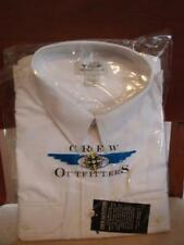 NEW CREW OUTFITTERS PILOT UNIFORM LS SHIRT WHITE MEN'S 20 34/35 WITH EYELETS