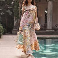 2020 Womens  Designer Inspired Luxury Ruffle Layered Long Dress Holiday