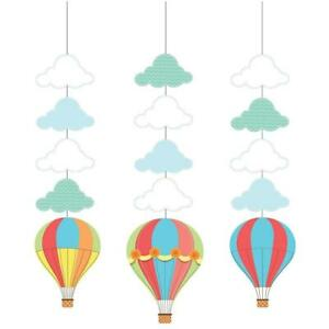Up, Up & Away Hot Air Balloon Shower Birthday Party Decoration Hanging Cutouts
