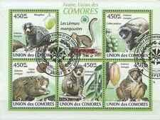 Timbres Animaux Comores 1636/40 o année 2009 lot 19026 - cote : 16 €