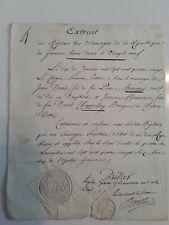 Lettre 1780 République de Geneve/REGISTRE des mariages bénis dans le Temple Neuf