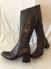 Russell&Bromley Brown Knee High Leather Boots Size 39.5