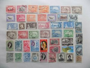 GREAT BRITAIN & Col. ADEN collection of used/mint  stamps-10-22-I