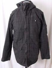 DC Button Zip Field Spec Op 07 Black Military Pocketed Plaid Jacket Coat Men's L