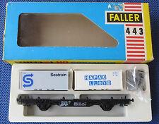 Faller Ams 443 Vagoni con Container Scatola Originale RAR