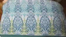 King White/Blue/green Jacobean Floral Scroll Quilt, 2 king,4 Standard shams.