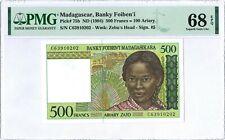 Madagascar 500 Francs P75b 1994 PMG 68 EPQ s/n C63910202