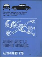 JAGUAR MK1 & MK2,2.4,3.4,3.8,240,340 AUTOBOOKS WORKSHOP MANUAL 1955-1969