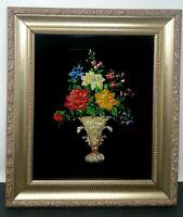 """Foil Art Picture Pro Gold Tone Frame 15 5/8"""" X 13 1/2"""" Vintage 11 1/2"""" X 9 1/2"""""""