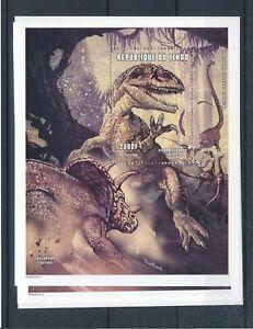 [342929] Chad dinosaur good very fine MNH sheet X4