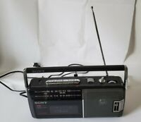 Sony CFM-140 Portable FM/AM Radio Cassette- Recorder Boombox Tested & Works