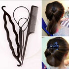 Women Lady Hair Twist Bun Maker Braid Tool Styling Clip Stick Hair Accessories