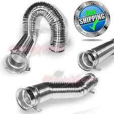 """UNIVERSAL 3"""" 76mm Flexible Cold Air Intake Duct Pipe Tube Auto Car Kit CHROME"""