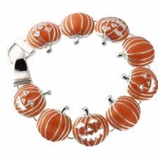 NEW Halloween Pumpkin Jack O Lantern Trick or Treat Magnetic Clasp Bracelet Boo