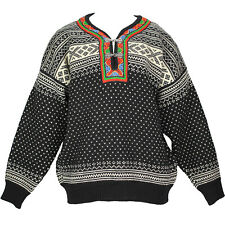 Dale of Norway Black White Wool Setesdal Nordic Unisex Pullover Sweater Small