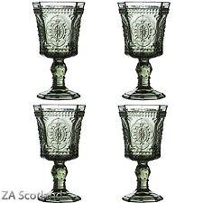 Amazing New Style Retro Set of 4 Wine Glass Smoked Wine Goblet Glass Drink Glass