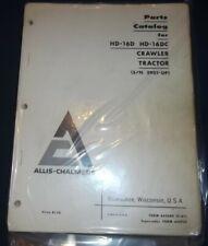 Allis Chalmers Hd 16d Hd 16dc Crawler Tractor Dozer Parts Manual Book Catalog