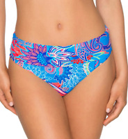 Sunsets CARRIBEAN BREEZE Fold-Over High-Waist Bikini Swim Bottom, US 33B, UK 33B