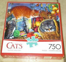 Potting Shed Cats Buffalo Puzzle 750 pc Complete