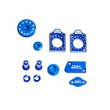 TUSK BILLET BLING KIT BLUE Brake Oil Cap Axle Blocks YAMAHA YZ450F 2010-2015