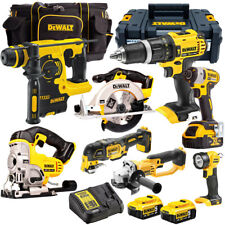 DeWalt 18V XR Cordless Li-Ion 8pcs Monster Kit with 3 x 5.0AH Batteries, Charger