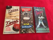 1980-2018 MLB Minnesota Twins media guide / You pick 'em / Hrbek / Puckett