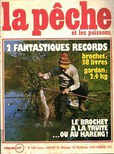 Revue  La pêche et les poissons No 428 Janvier 81