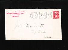 Peerless Rubber Mfg Co New York 1900 Flag Cancel 16 J. DeWitt Natick MA Cover ä