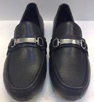 Cole Haan Somerset Bit II Black Tumbled Leather Loafers Men 9.5 M NIB New C11835