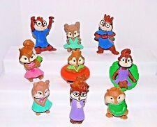 McDonald Toys~ALVIN & THE CHIPMUNKS ~ Six 2011 Chipwrecked+Three 2009 Squeakquel