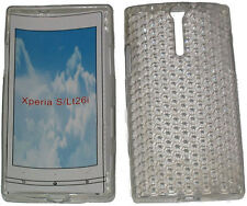Pattern Soft Gel Case Protector Cover For Sony Xperia S LT26i LT26 Clear New UK